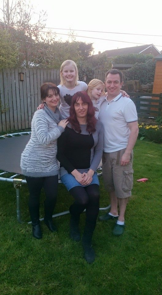 Michael, his lovely wife Anna, and the two beautiful children with us in their garden at Easter.