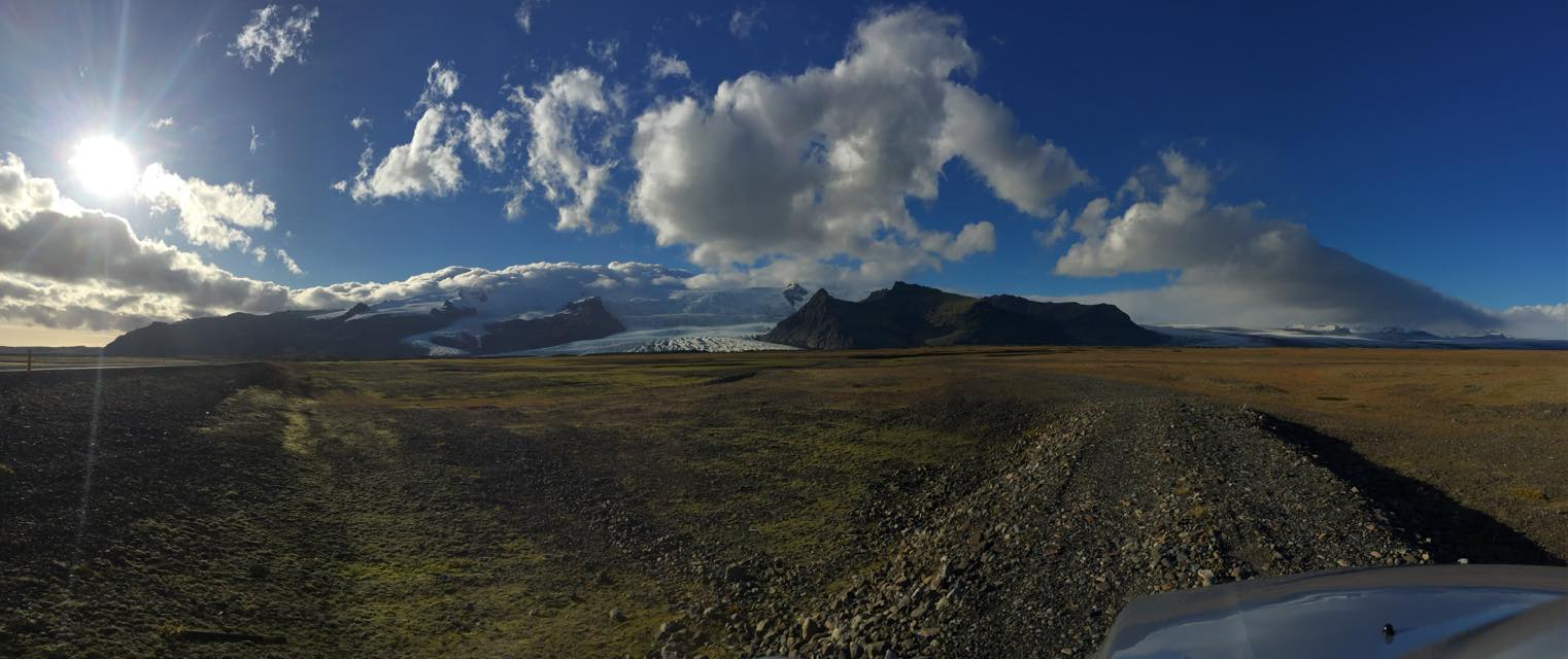 Panoramic View of Iceland on the way back to the Airport